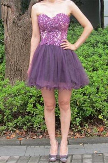 Short Homecoming Dress, Strapless Homecoming Dress,Junior Homecoming Dress Mini Homecoming Dress,Cute homecoming Dress,Sweetheart Homecoming Dress,Homecoming Dress PD0086