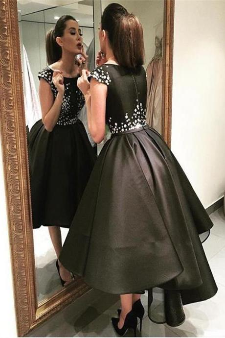 Black short Homecoming Dress,Sweet 16 Dress For Teens,Elegant Homecoming Dress,Junior Party Homecoming Dress,modest homecoming dress,custom homecoming dressPD0090
