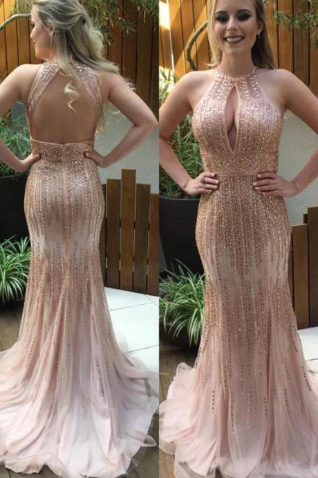 Long Custom Prom Dress,Pretty Beaded Prom Dresses,Sequin Sparkly Modest Prom Gowns,Long mermaid Prom Dress For Teens,Party Dresses. PD01269