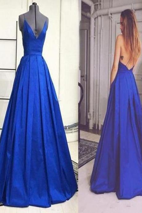 Formal Evening dress,prom Dress Long.prom Dresses. Royal Blue Prom Dress, Prom Dress Ball Gown, V-Neck Prom Dress,prom Dresses. PD015084